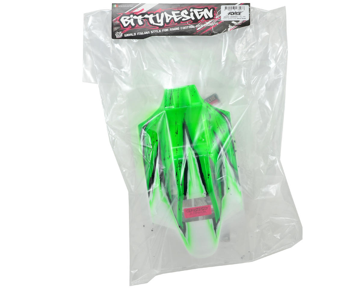 "Bittydesign ""Force"" XRAY XB8 1/8 Pre-Painted Buggy Body (Wave) (Green)"