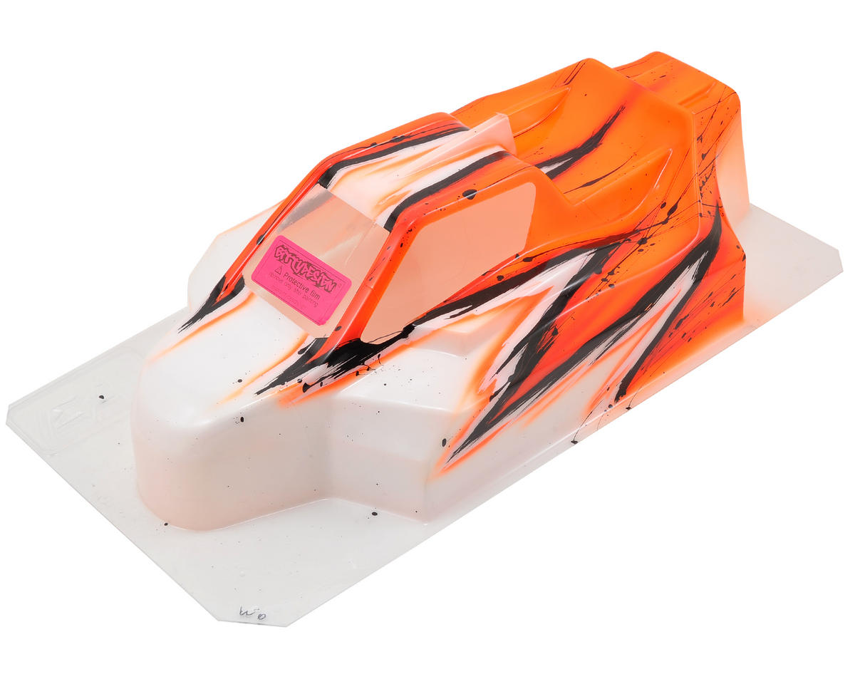 "Bittydesign ""Force"" XRAY XB8 2014 1/8 Pre-Painted Buggy Body (Wave) (Orange)"