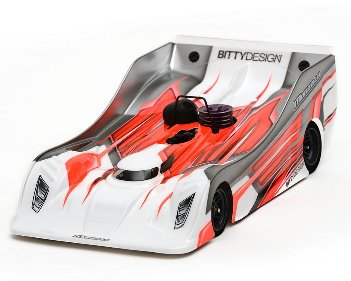 Monza-L8 Cut 1/8 On-Road Body (Clear) (977) (Lightweight) by Bittydesign