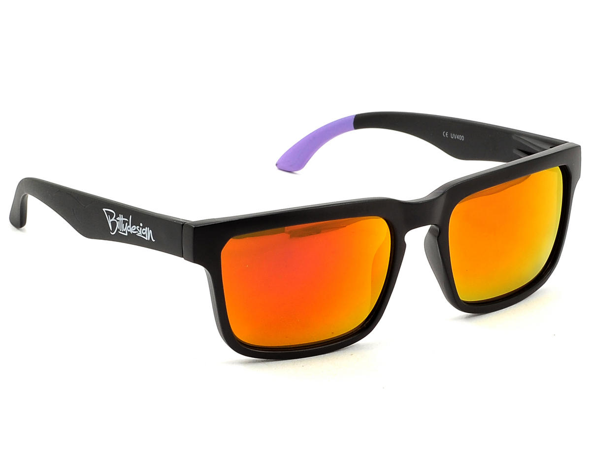 Bittydesign Claymore Sunglasses w/Ruby Lens (Matte Black/Purple)
