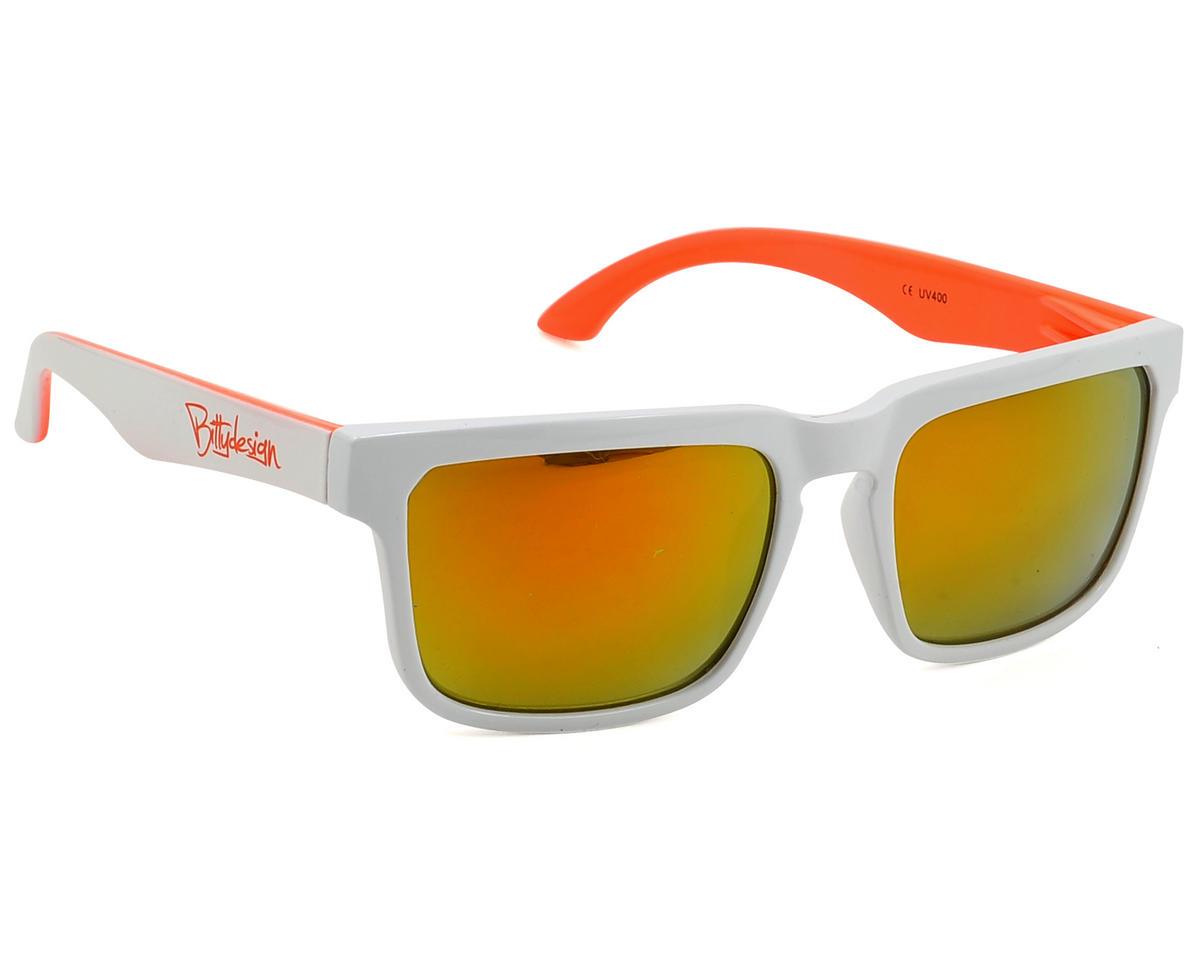 Bittydesign Claymore Sunglasses w/Fire Lens (White/Orange)