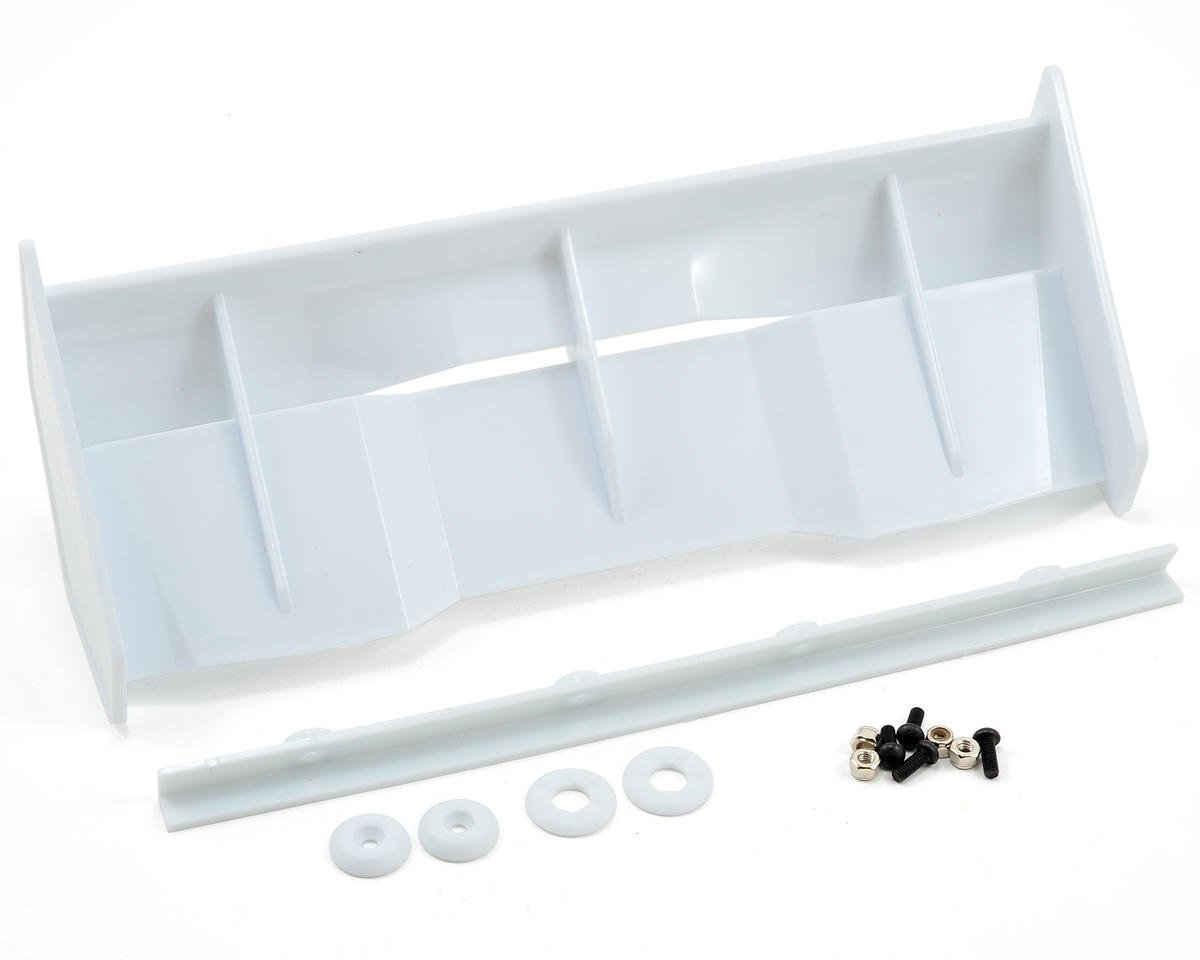 "Bittydesign ""Stealth"" 1/8 Buggy & Truggy Wing Kit (White) (Hot Bodies Ve8)"