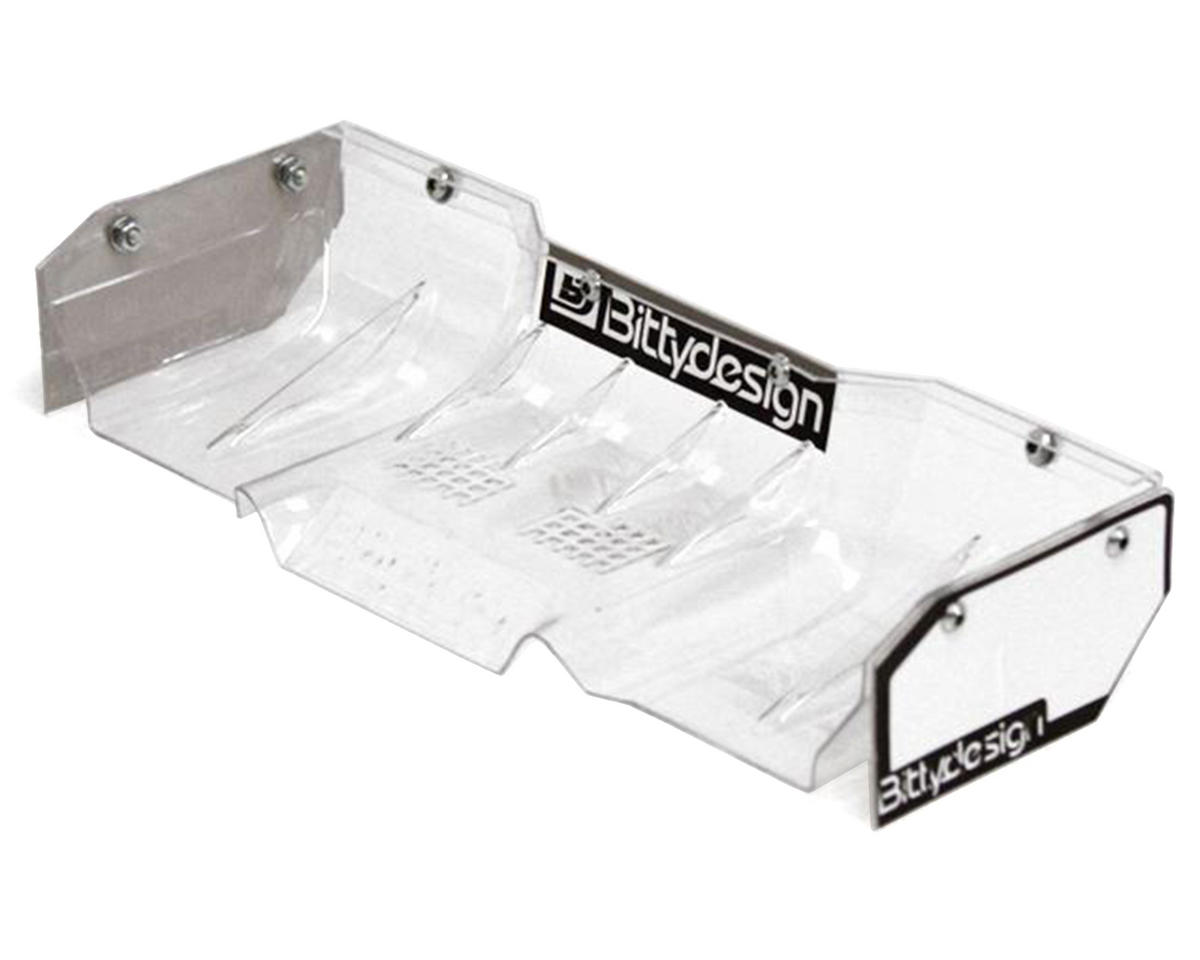 "Bittydesign ""Zefirus"" Lexan 1/8 Buggy & Truggy Wing (Clear) (HB Racing Ve8)"