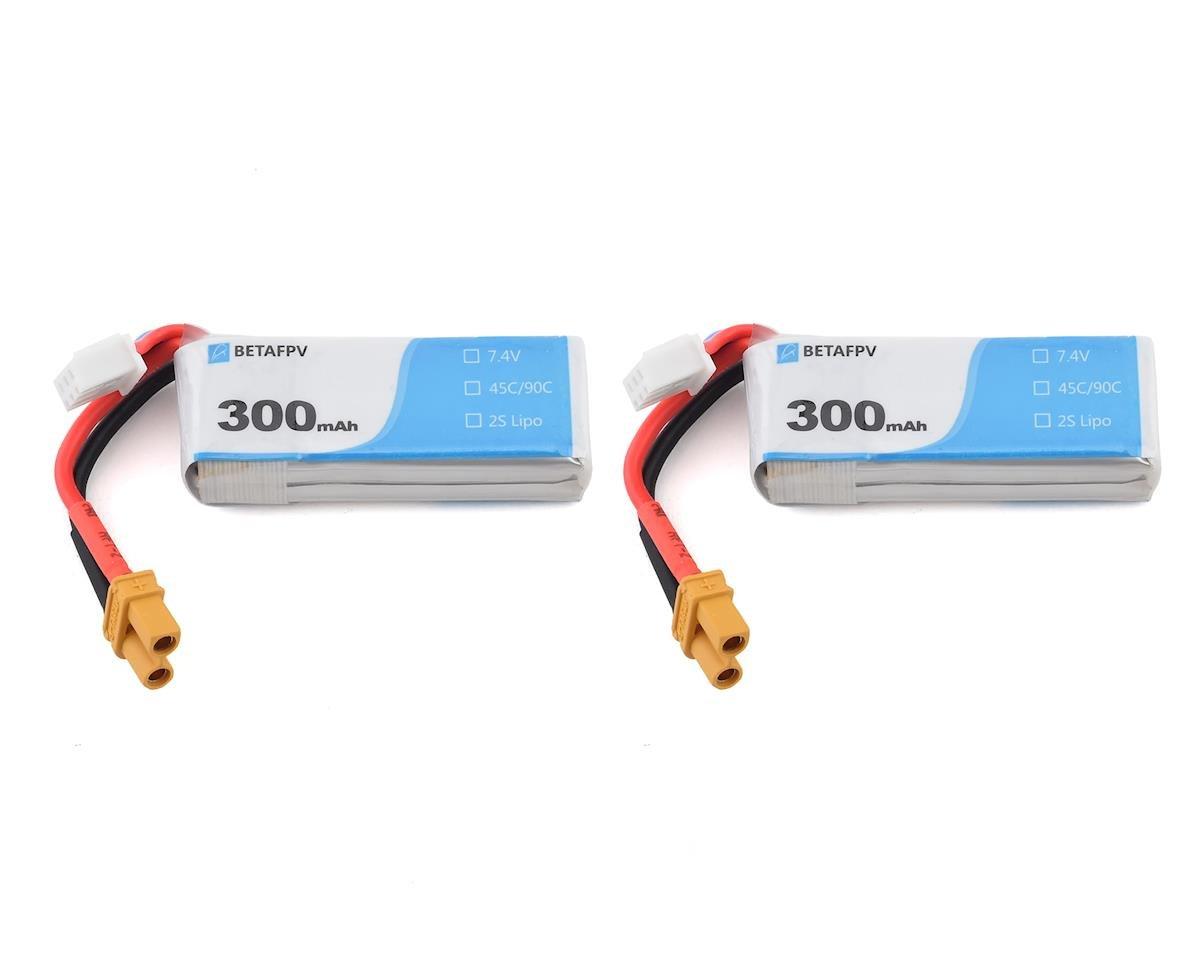 BetaFPV 2s 45C LiPo Battery (7.4V/300mAh) (2)