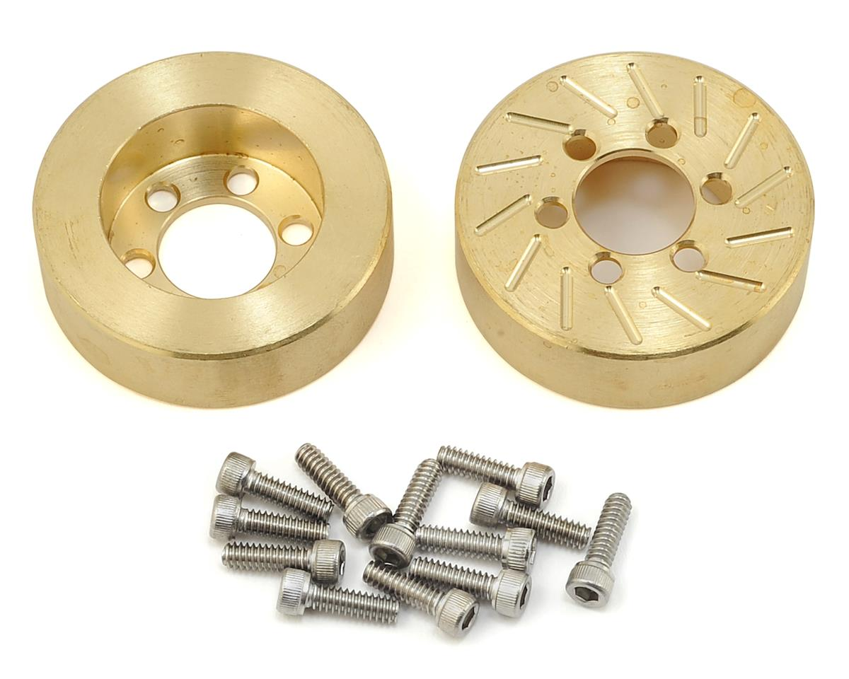 Beef Tubes 1.9 SLW Patties (Brass) (2) (Vanquish SLW) (Axial RR10 Bomber)