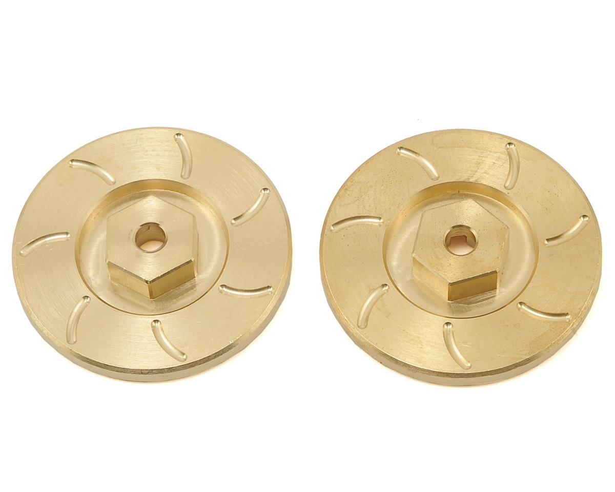 Beef Tubes Patties (Brass) (2) (Hex Style) (Axial SCX10)