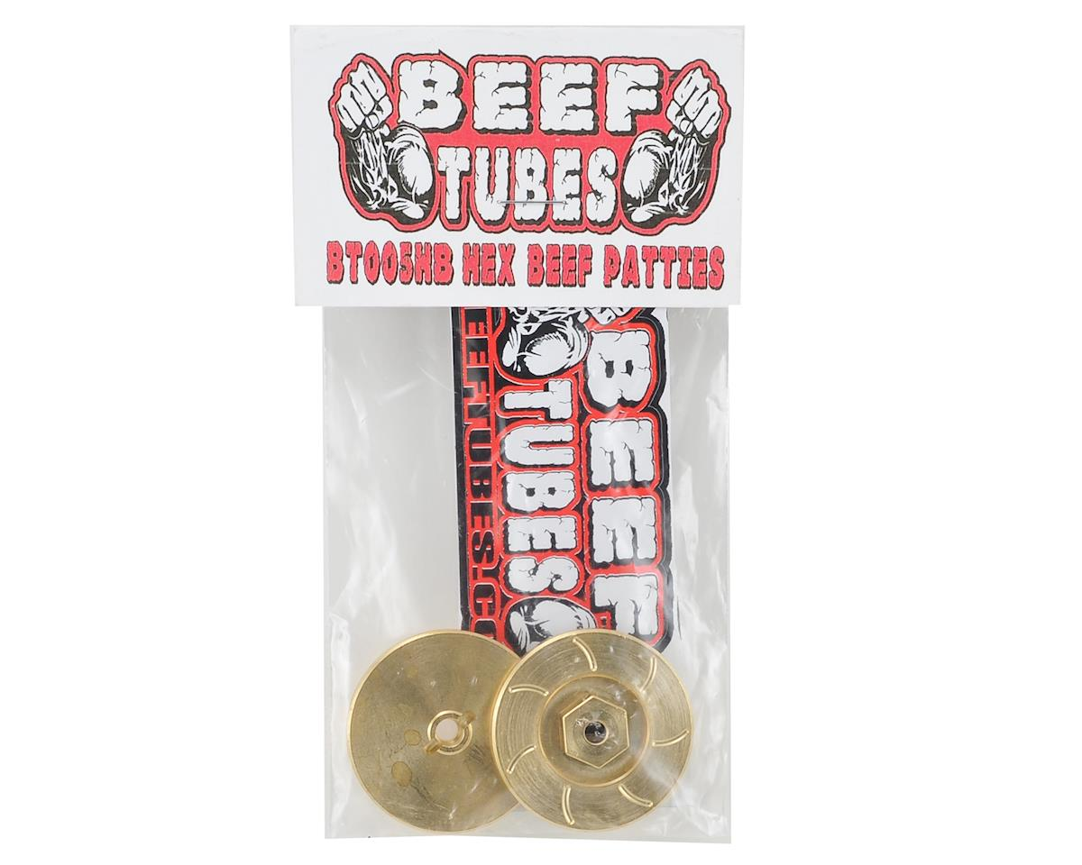 Beef Patties (Brass) (2) (Hex Style) by Beef Tubes