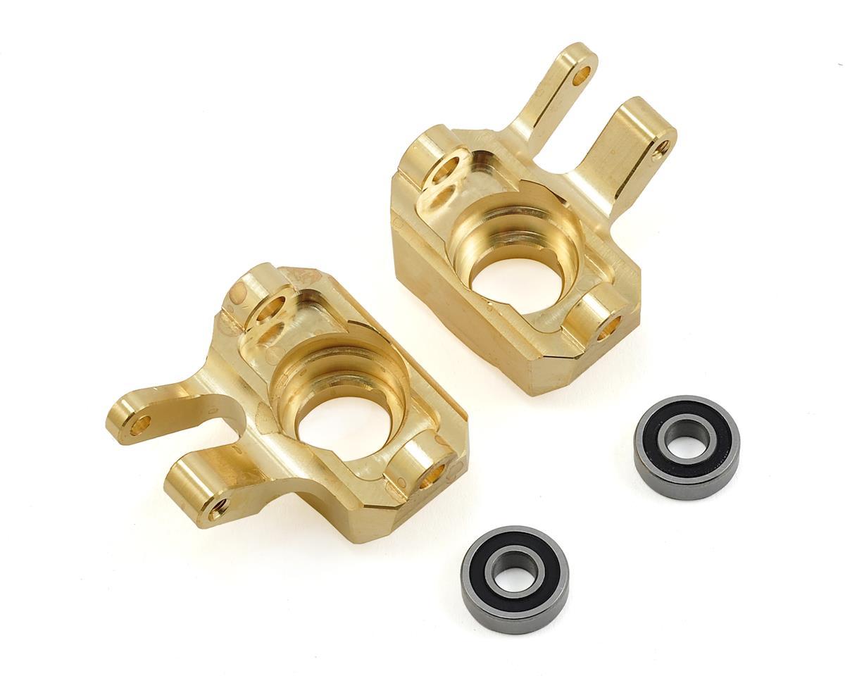 SCX10 II Beef Shank Brass Steering Knuckles by Beef Tubes
