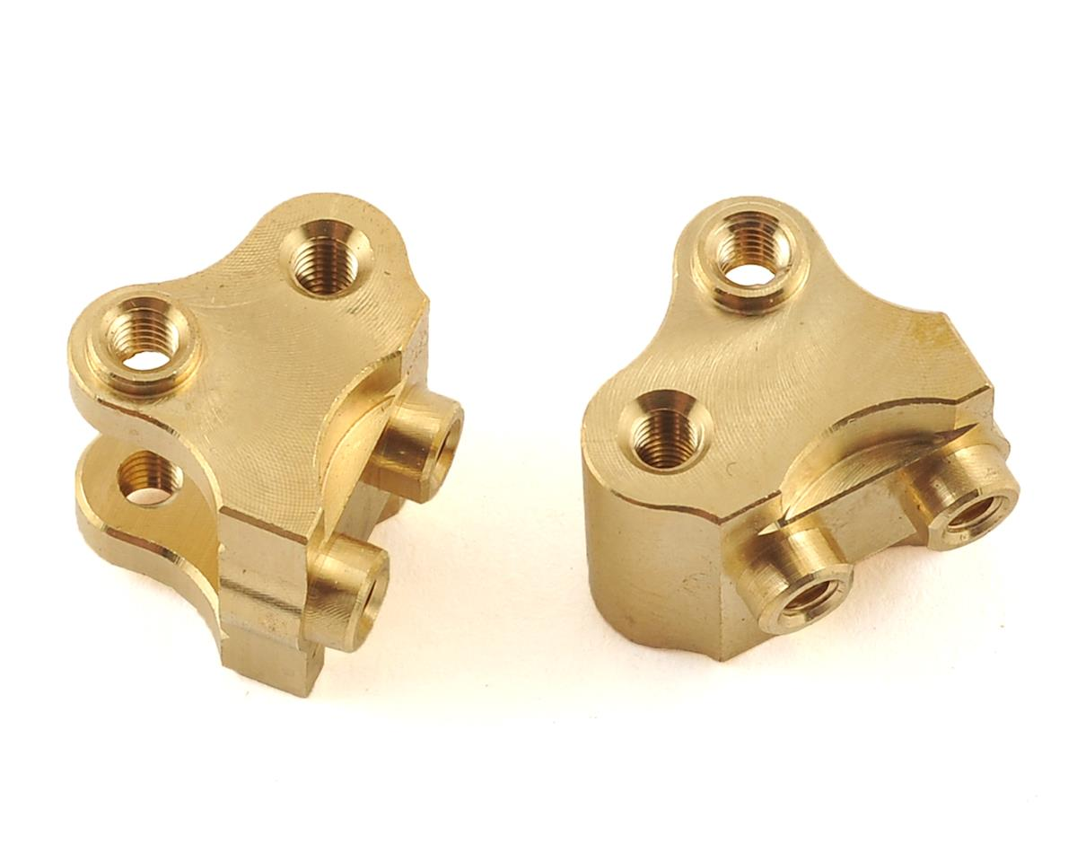 SCX10 II AR44 Lower Link/Shock Mount (2) (Brass) by Beef Tubes