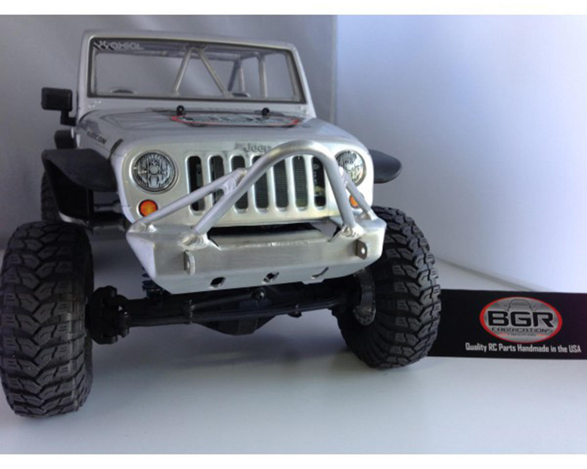 SCX10 Jeep Rubicon Front Stinger Bumper w/Tube Gussets by BGR Fabrications