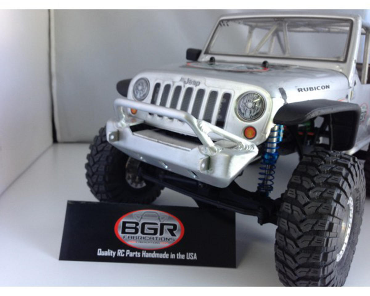 BGR Fabrications SCX10 Jeep Rubicon Front Wide Trailbar Bumper w/Tube Gussets