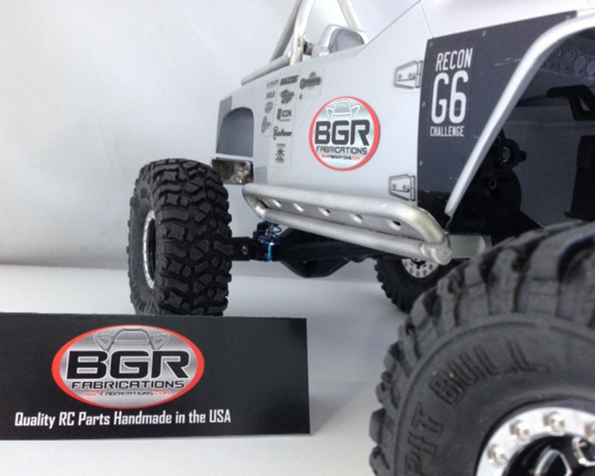 BGR Fabrications SCX10 Jeep Rubicon V2 Rock Sliders (2)