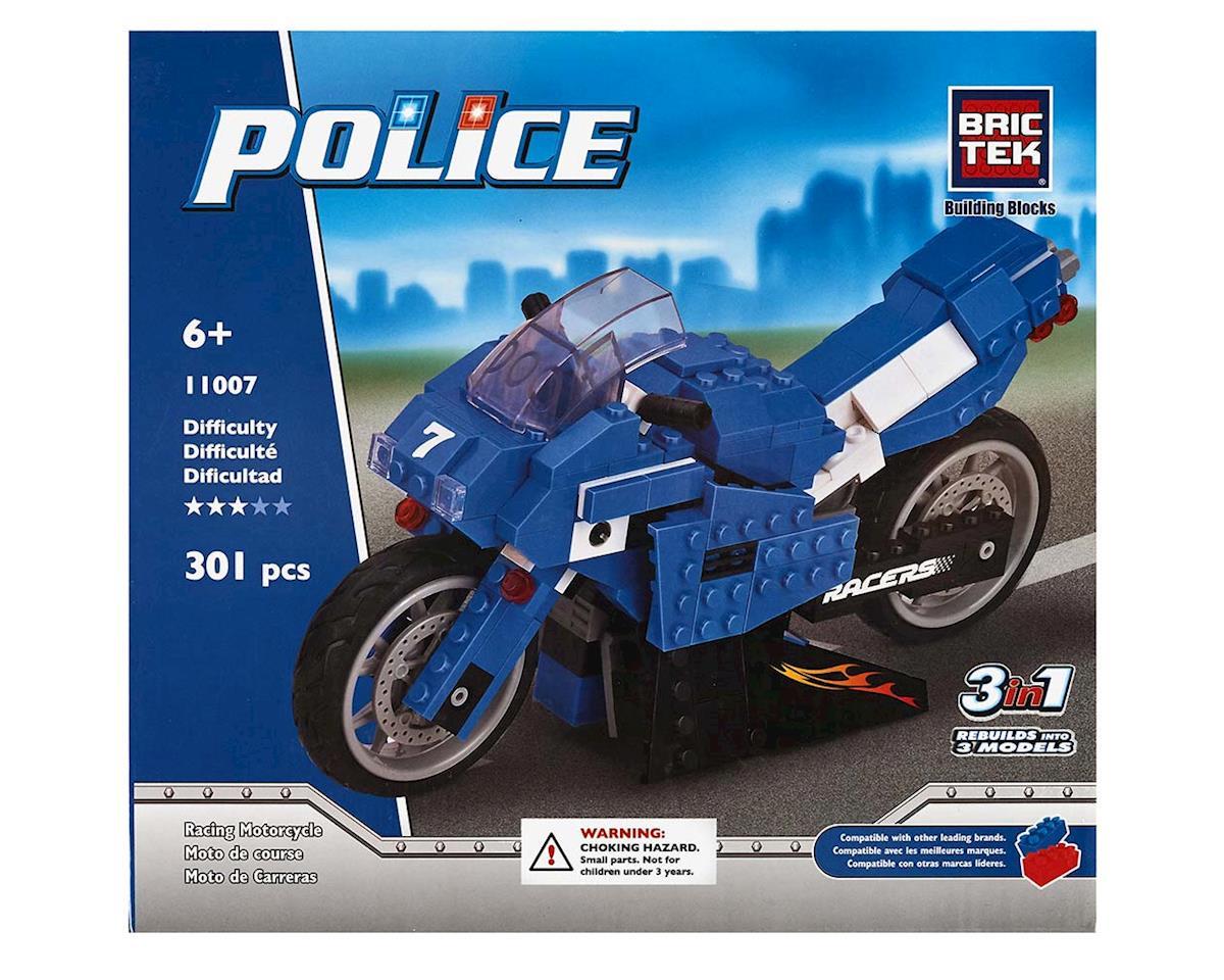 Brictek Building Blocks 11007 Police Racing Motorcycle 3 in 1