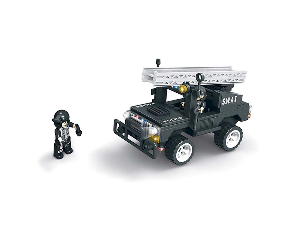 Brictek Building Blocks 11104 SWAT Jeep w/Ladder 203pcs