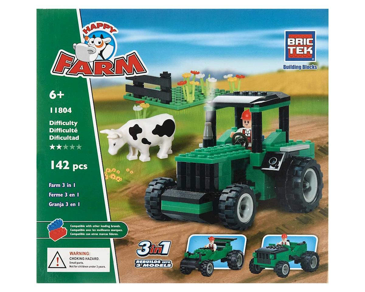 Brictek Building Blocks 11804 Farm Green Tractor 3 in 1