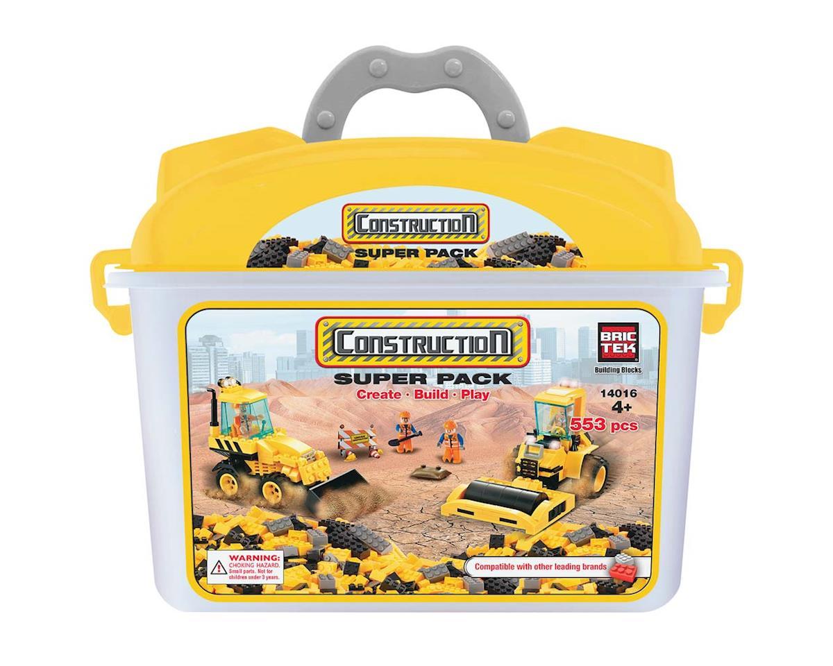 Brictek Building Blocks 14016 Construction Super Pack 553pcs