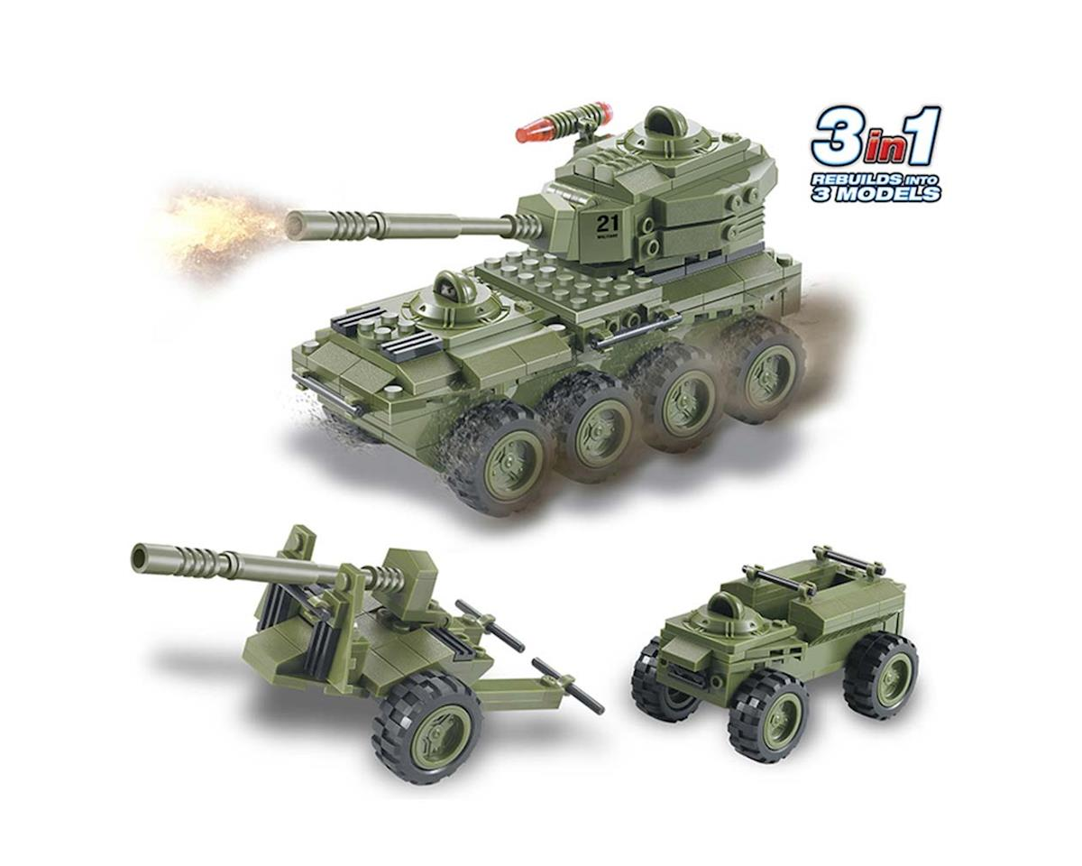 Brictek Building Blocks 15033 Army 8-Wheel Tank 3in1 203pcs