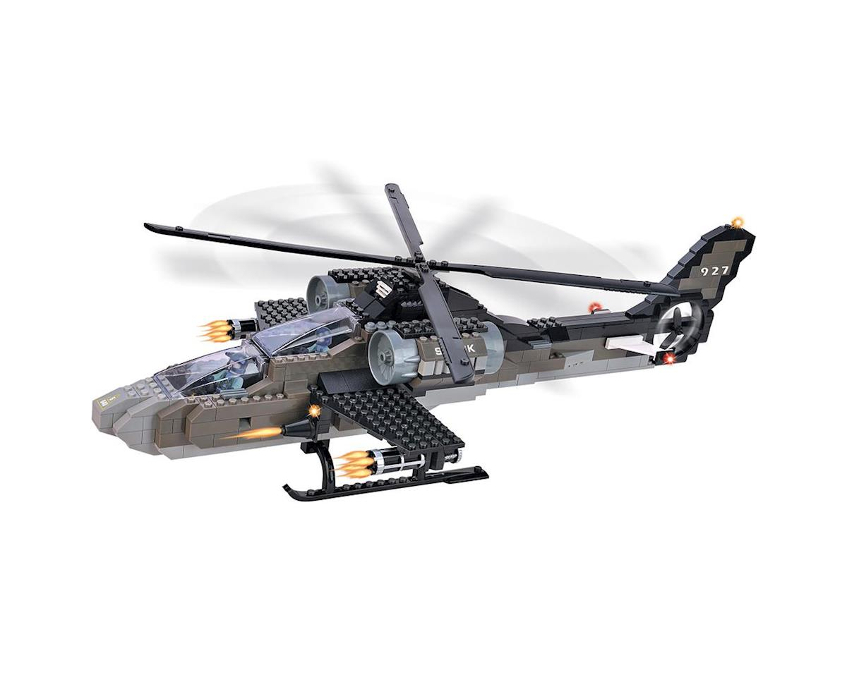 15711 Air Force Apache Helicopter 5 In 1 387pcs by Brictek Building Blocks