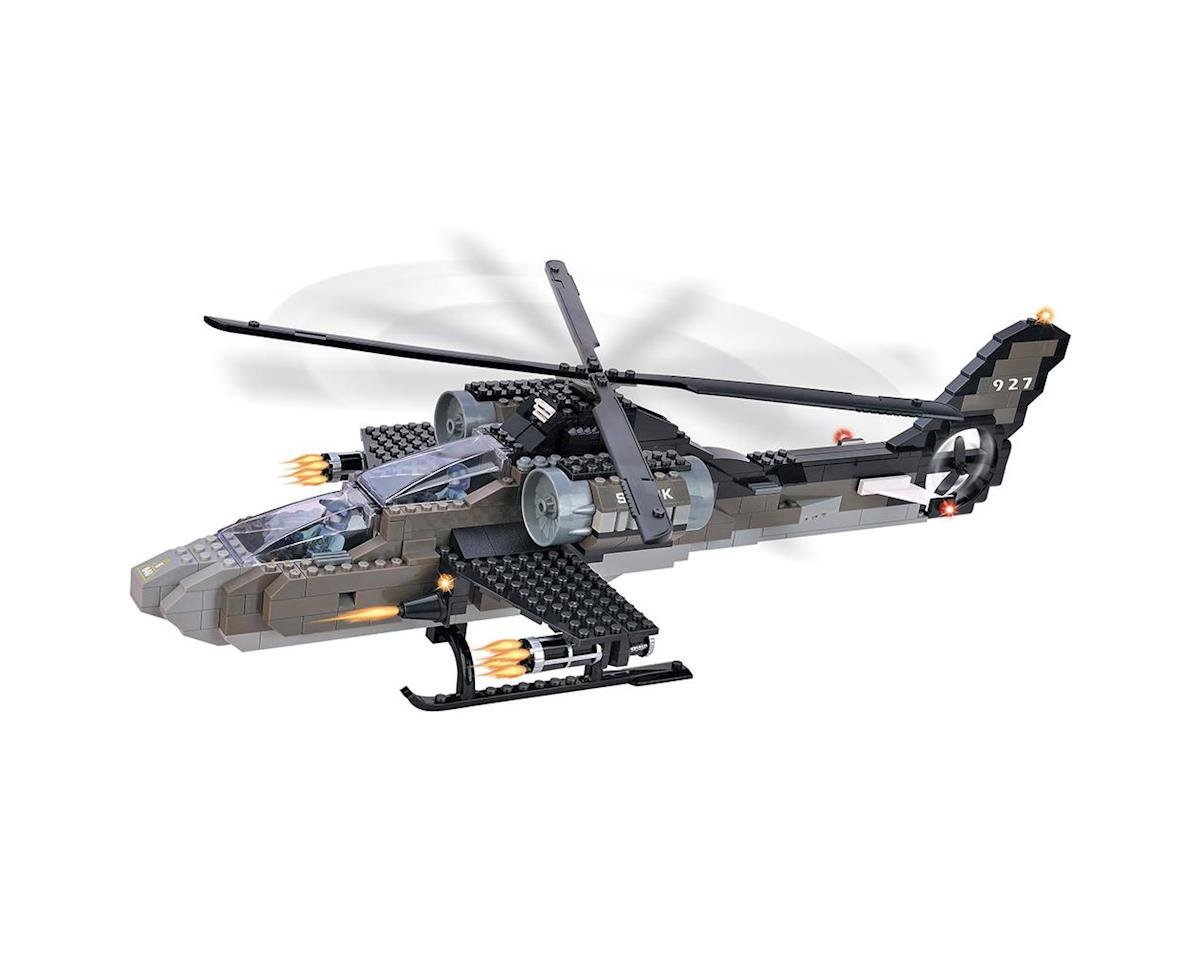 Brictek Building Blocks 15711 Air Force Apache Helicopter 5 In 1 387pcs