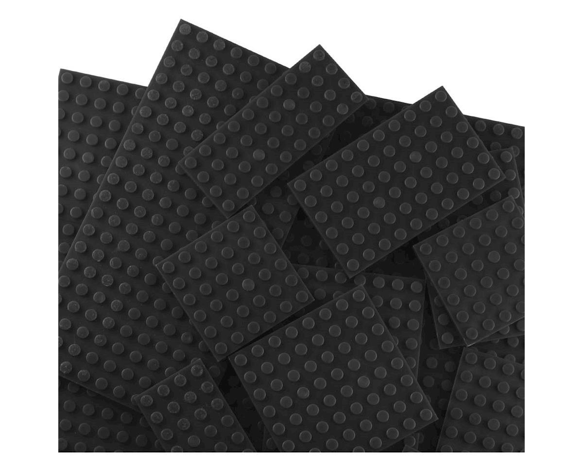 Brictek Building Blocks 19013 Baseplates 17 Assorted Black