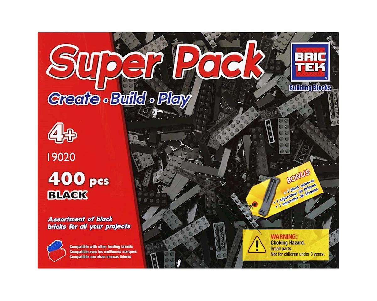Black Super Pack 400pcs by Brictek Building Blocks