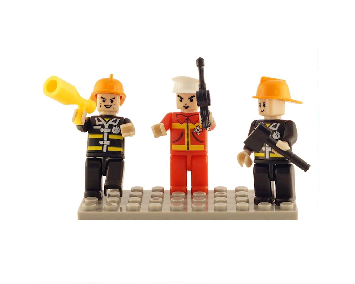 19304 Mini Figurines Fire Brigade (3) by Brictek Building Blocks