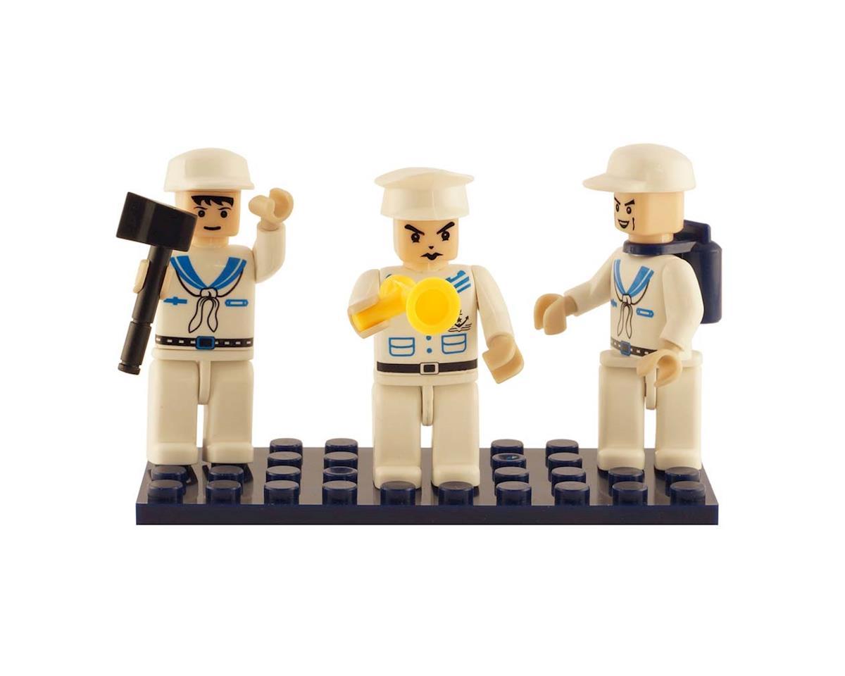 Brictek Building Blocks 19310 Mini Figurines Navy (3)