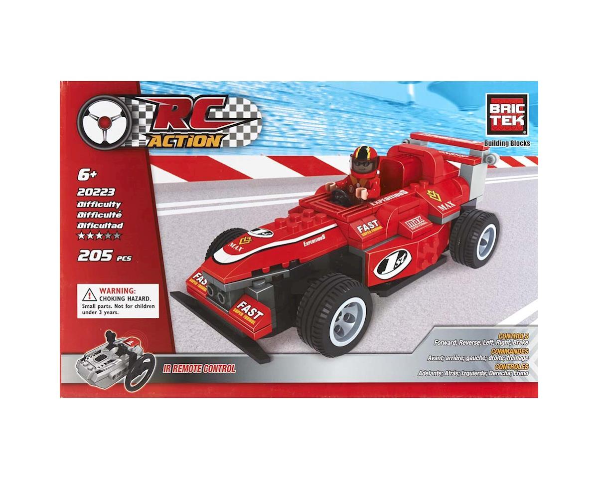Brictek Building Blocks 20223 R/C Red Racing Car w/Figure 119pcs