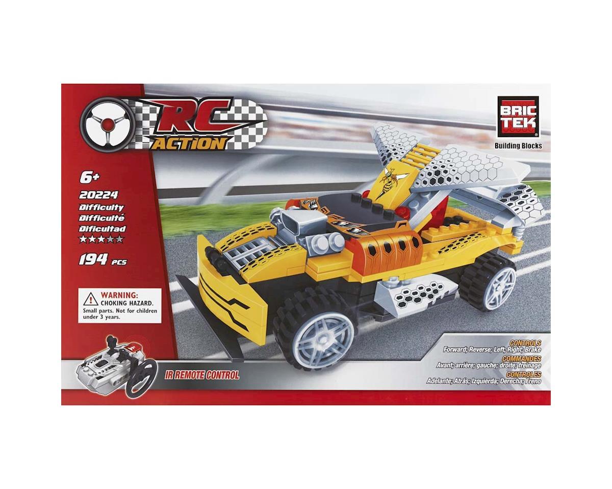 20224 R/C Yellow Racing Car 108pcs by Brictek Building Blocks