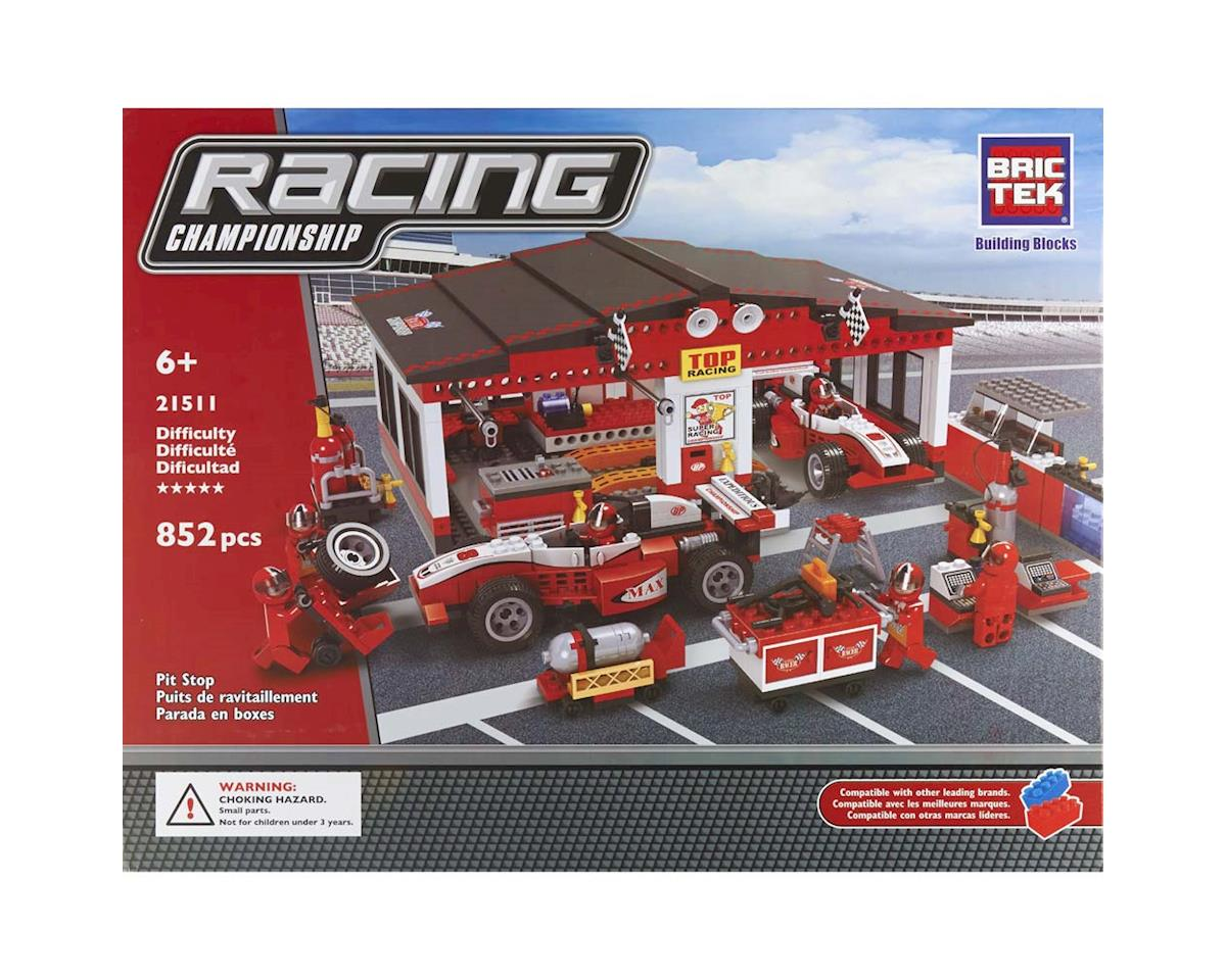 Brictek Building Blocks Pit Stop 852pcs