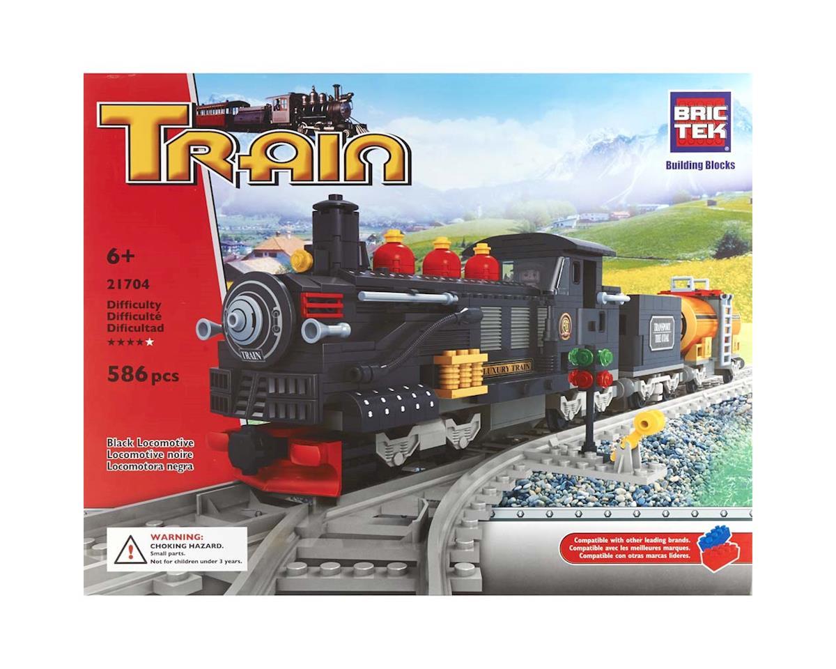 Brictek Building Blocks 21704 Black Locomotive 586pcs