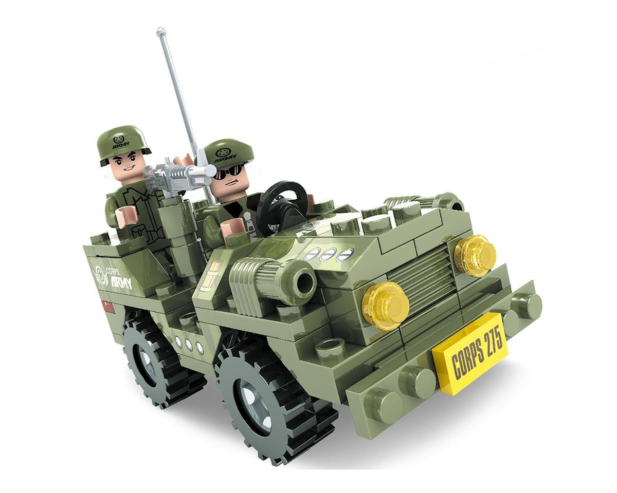 25002 Army Jeep Corps 275 108pcs by Brictek Building Blocks