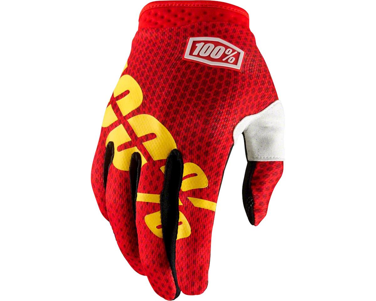 100% iTrack Full Finger Glove (Fire Red)