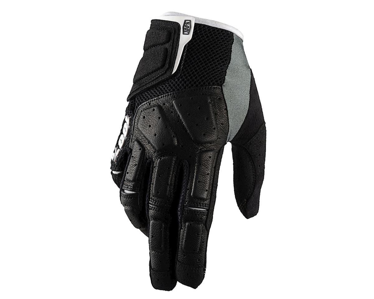 100% Simi Full Finger Glove (Black) (L)