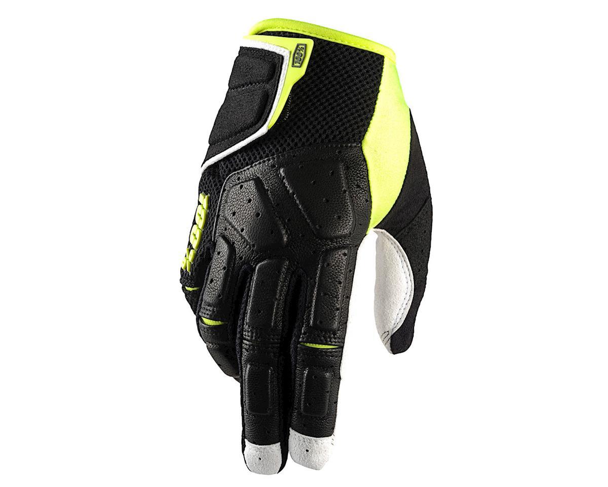 100% SIMI MTB Glove (Black/Neon Yellow) (L)
