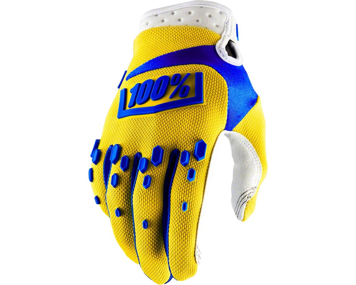 100% Airmatic Full Finger Glove (Yellow)