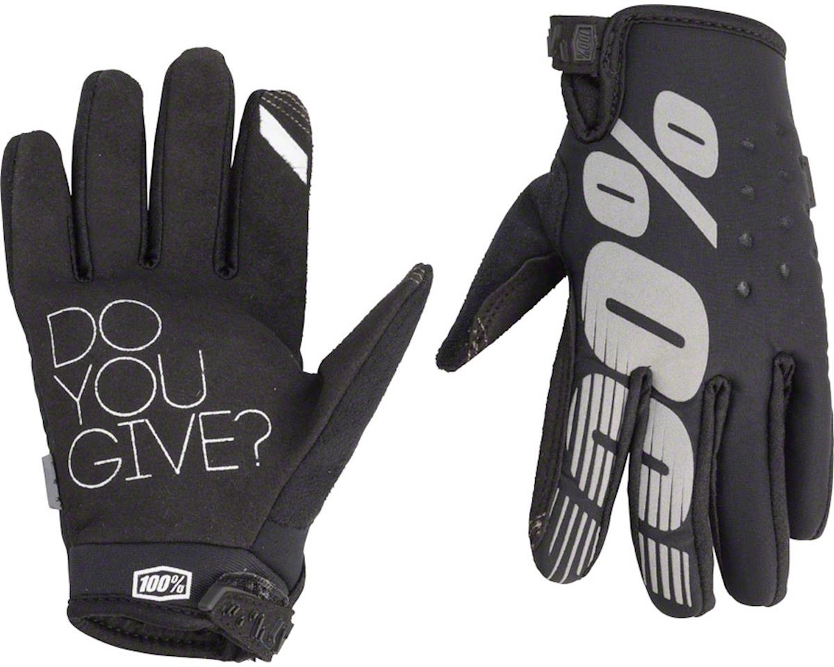 100% Brisker Youth Glove (Black)