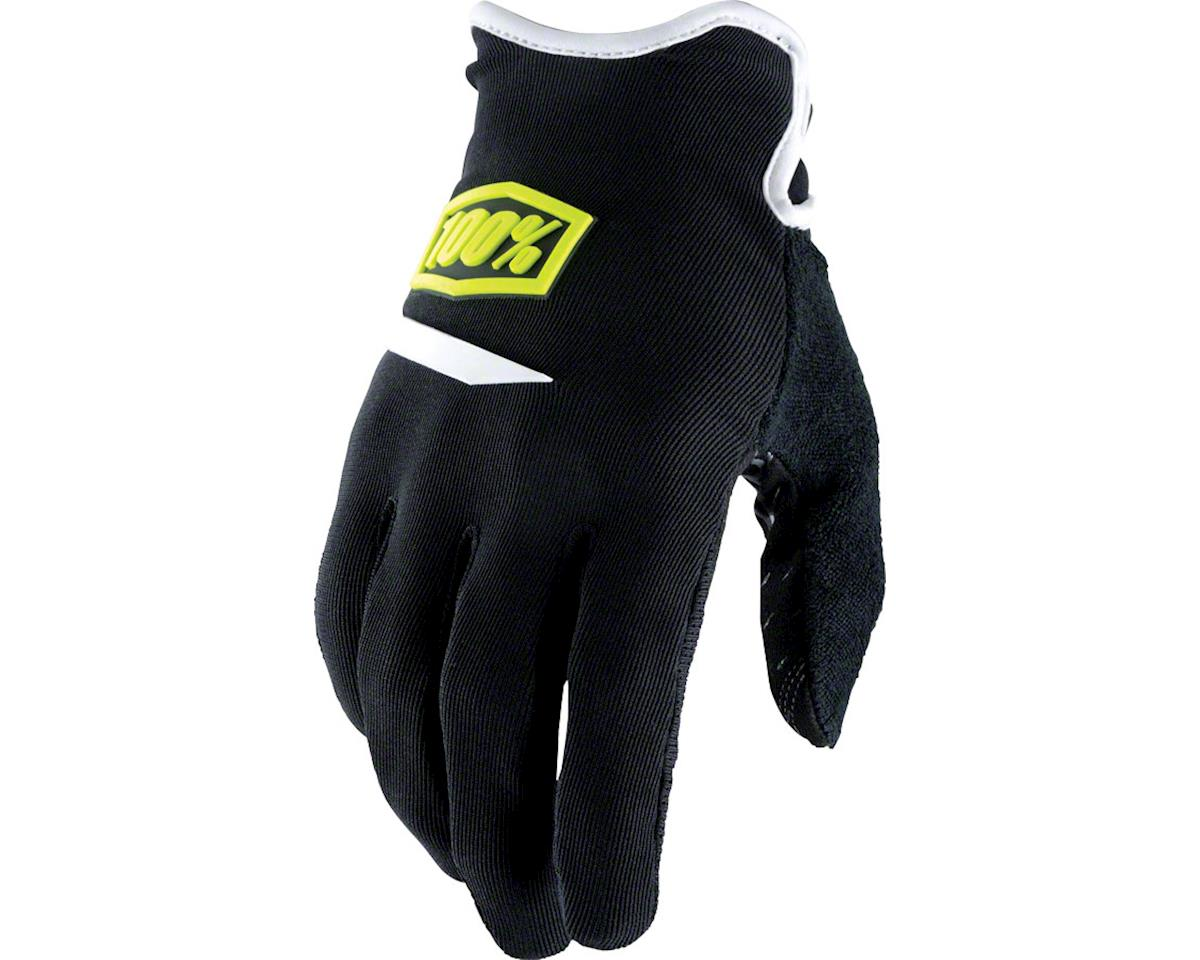 100% Ridecamp Men's Full Finger Glove (White) (S)