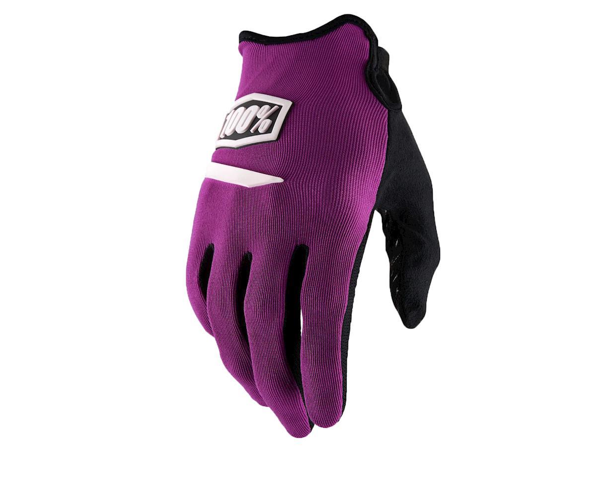 100% Ridecamp Men's Full Finger Glove (Purple)