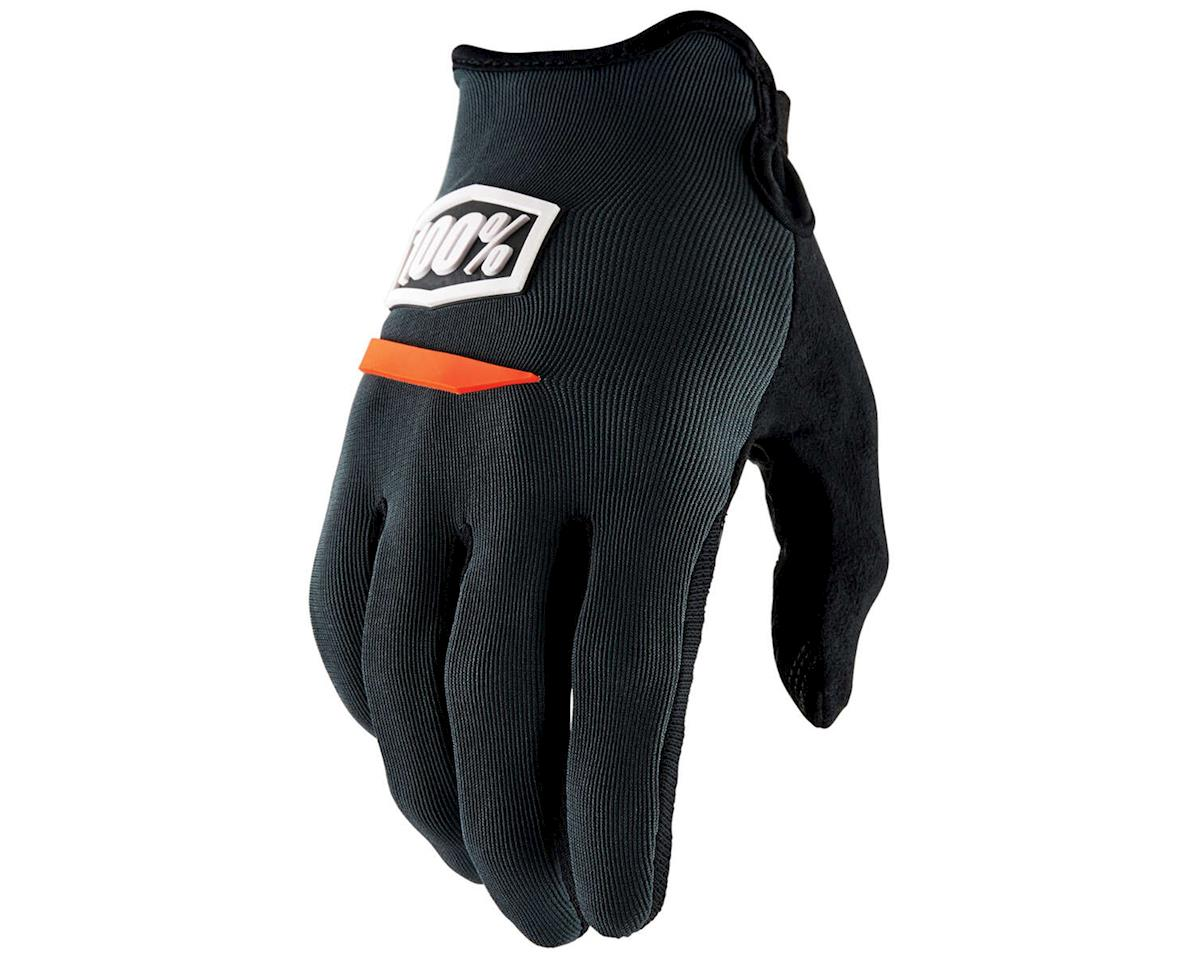 100% Ridecamp Men's Full Finger Glove: Charcoal XL (S)