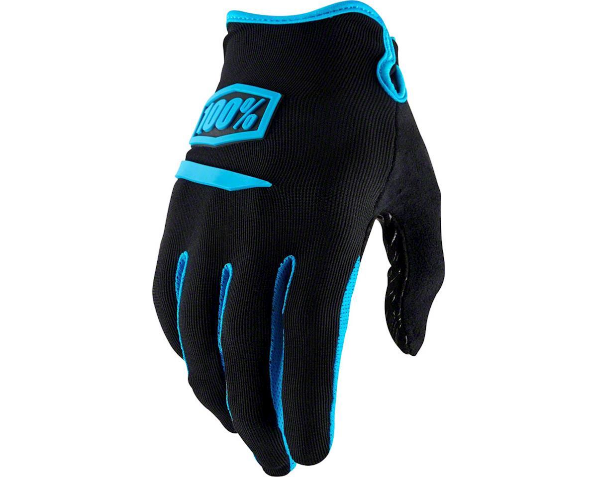 100% Ridecamp Men's Full Finger Glove (Black/Blue)