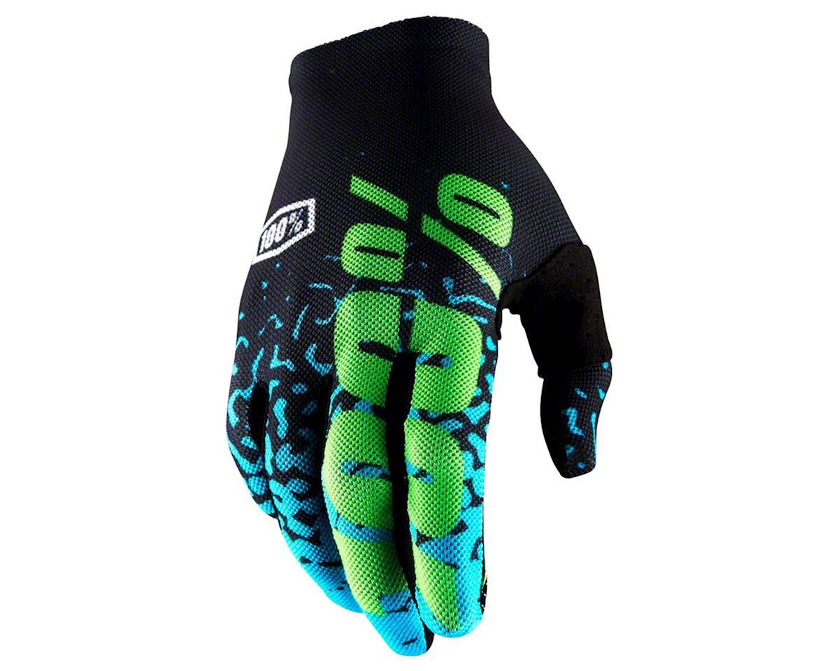100% Celium II Full Finger Glove (Flash Black/Cyan)