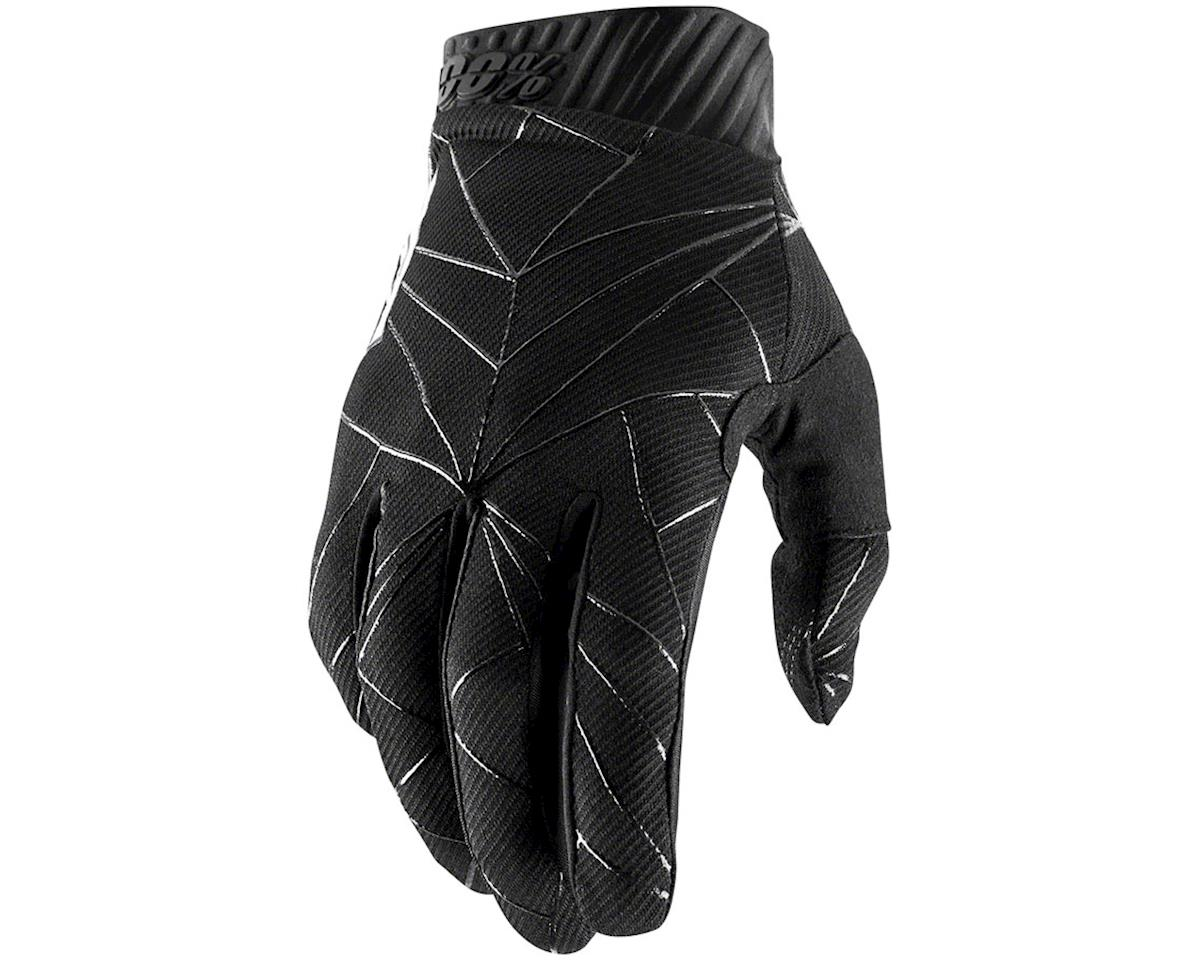 100% Ridefit Full Finger Glove (Black) (L)