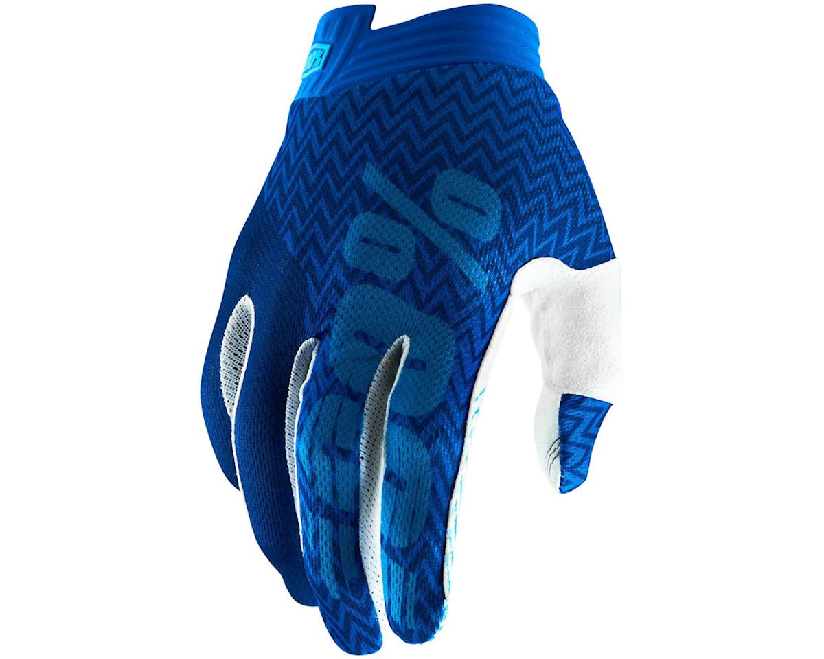 100% iTrack Full Finger Glove (Blue) (S)