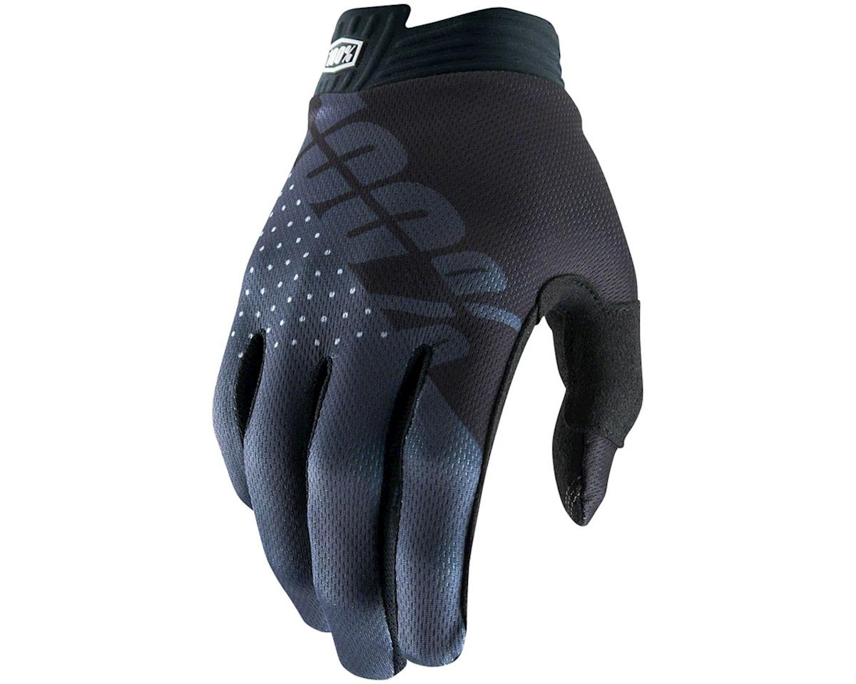 100% iTrack Full Finger Glove (Black) (M)