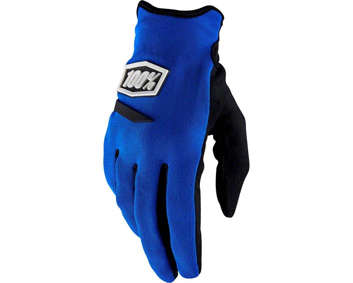 100% Ridecamp Women's Full Finger Glove (Blue) (L)