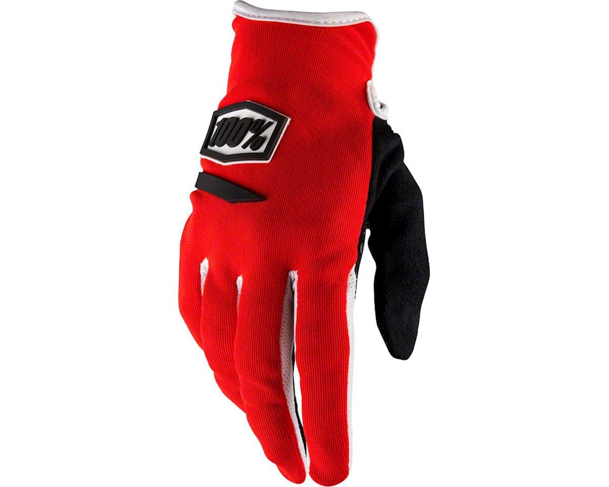 100% Ridecamp Women's Full Finger Glove (Red) (L)