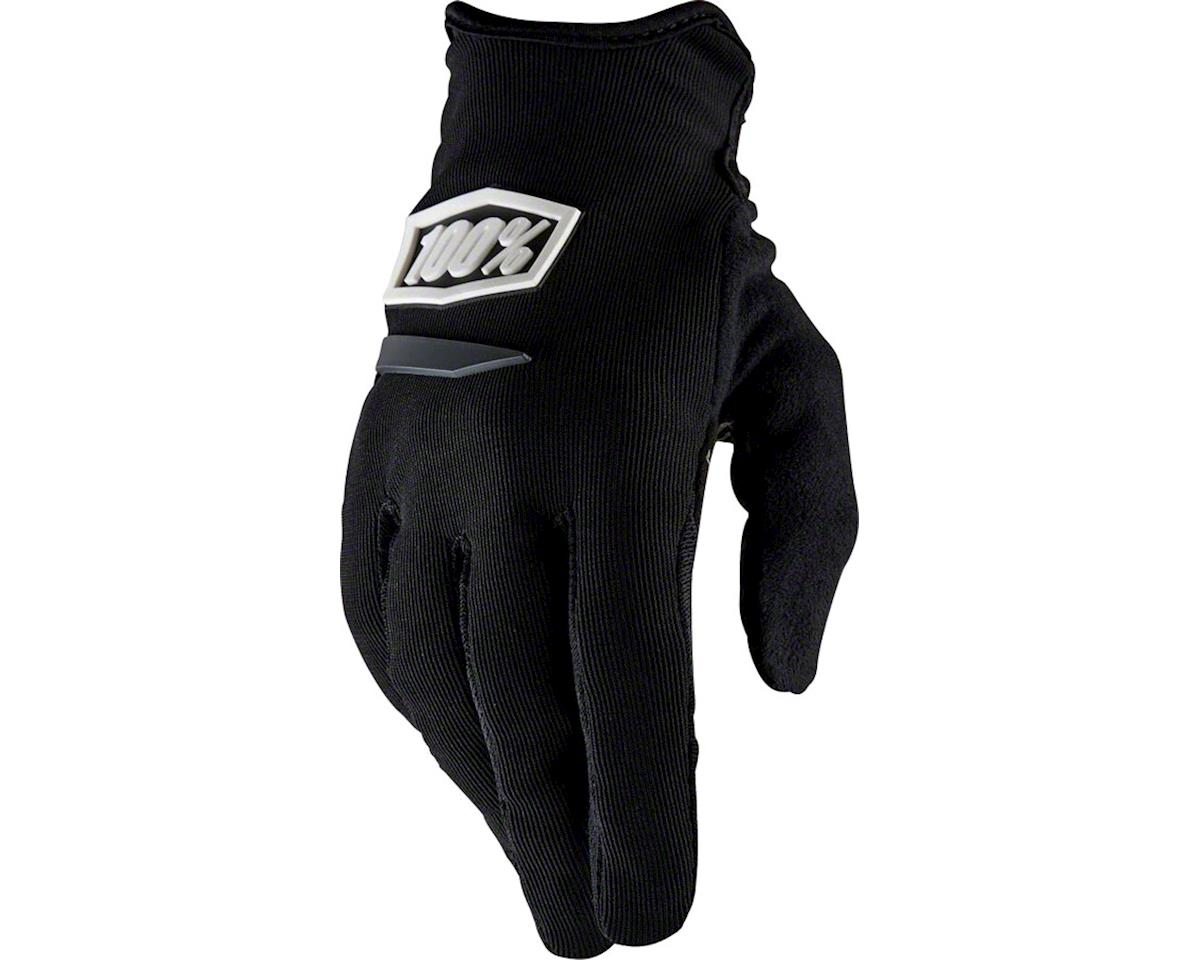 100% Ridecamp Women's Full Finger Glove (Black)