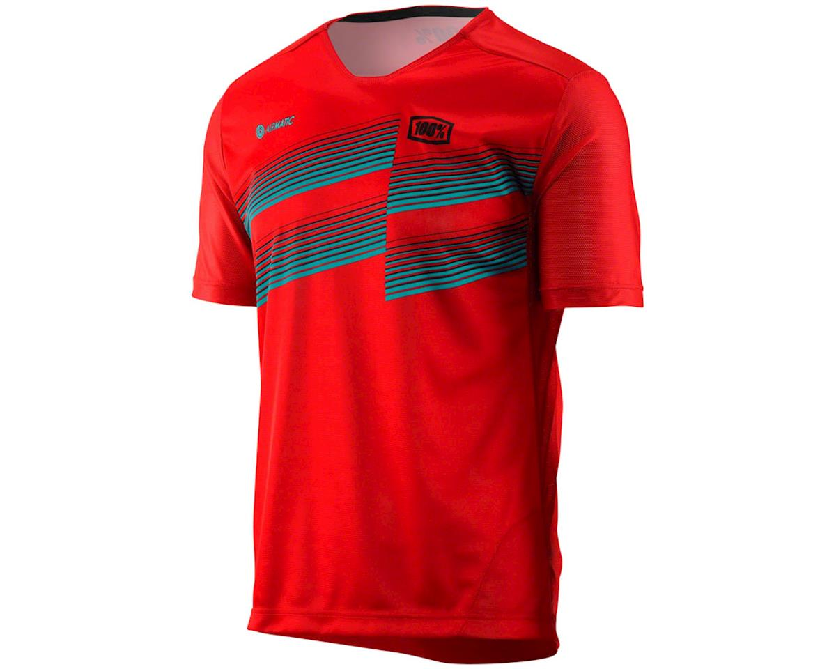 100% Airmatic Men's Short Sleeve MTB Jersey (Red)