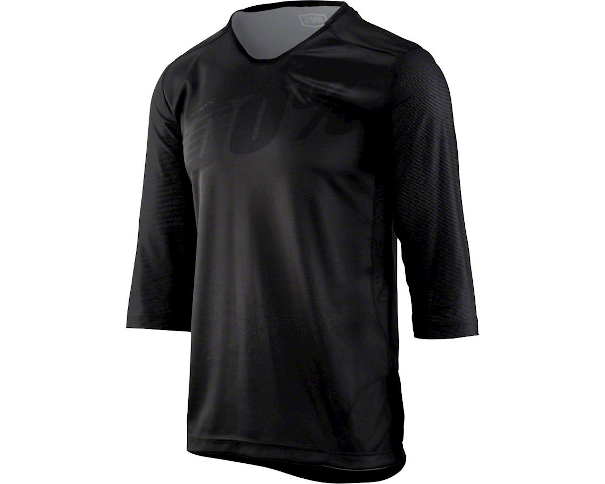 100% Airmatic Men's 3/4 Sleeve MTB Jersey (Black) (S)